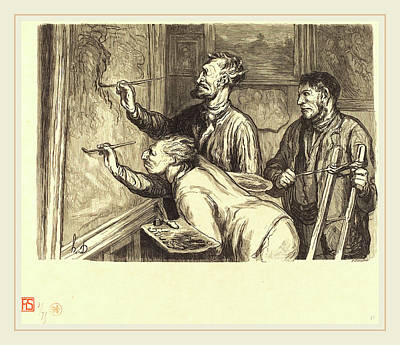 Dernier Painting - Etienne After Honoré Daumier French, Active 19th Century by Litz Collection