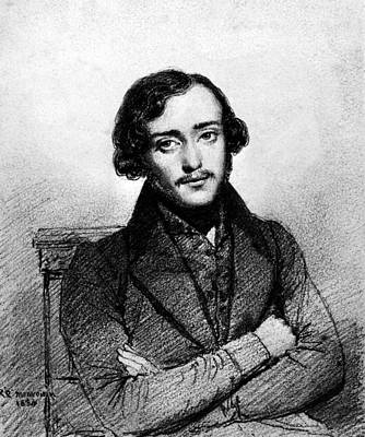 Drawing - Eugene Viollet-le-duc (1814-1879) by Granger