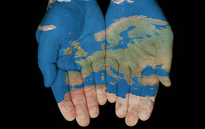 Europe In Our Hands Art Print
