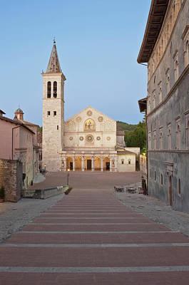 Umbria Photograph - Europe, Italy, Umbria, Spoleto, Duomo by Rob Tilley