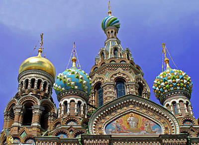 Cathedral Of Christ The Savior Photograph - Europe, Russia, St by Kymri Wilt