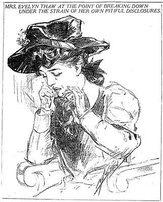 1907 Drawing - Evelyn Nesbit (1885-1967) by Granger