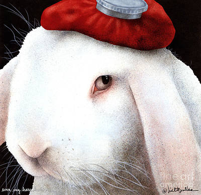 Headache Painting - Even My Hare Hurts... by Will Bullas