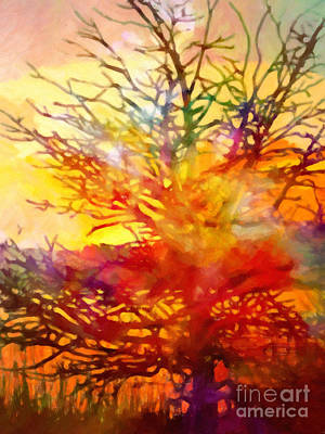 Abstract Expressionism Painting - Evening Glow by Lutz Baar