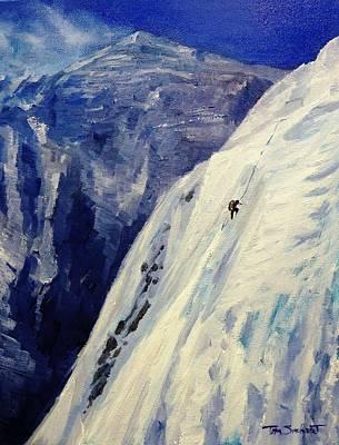 Ice Climbing Painting - Everest West Ridge by Tom Siebert