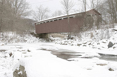 Photograph - Everett Covered Bridge  by Jack R Perry