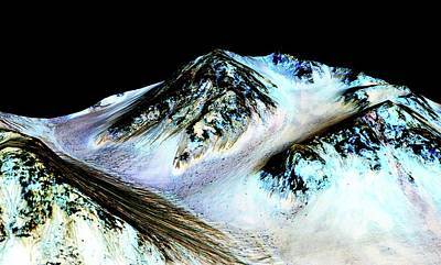 Evidence Of Water On Mars Art Print by Nasa/jpl-caltech/univ. Of Arizona