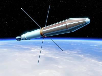 Explorer 1 Satellite Art Print by Detlev Van Ravenswaay