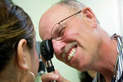 Ophthalmologists Photograph - Eye Examination by Jim West