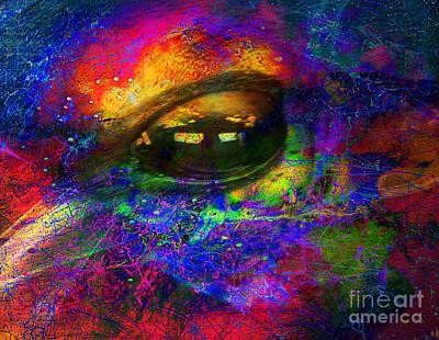 Eye Of Universe Art Print by Irina Hays