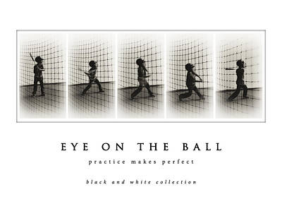 Photograph - Eye On The Ball Black And White Collection by Greg Jackson