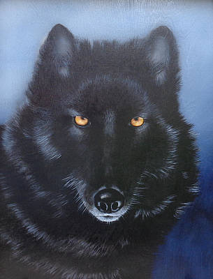 Pierced Ears Painting - Eyes Of The Wolf by Joe Lisowski
