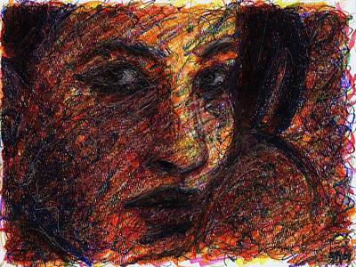 Abstract Expressionism Drawing - Eyes by Rachel Scott