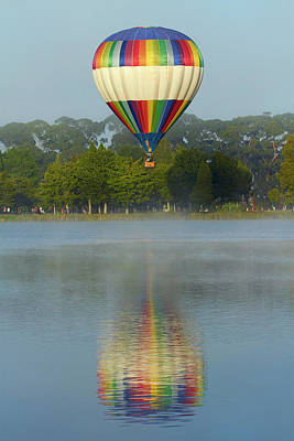 Hot Air Balloon Photograph - Ezy B Hot Air Balloon, Balloons by David Wall