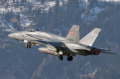 Photograph - Fa-18 From The Swiss Air Force Taking by Giovanni Colla