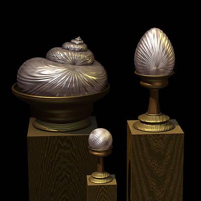Faberge Style White Gold Art Print