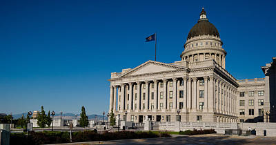 Facade Of A Government Building, Utah Art Print