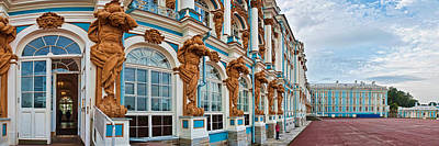 Facade Of Catherine Palace, Tsarskoye Art Print by Panoramic Images