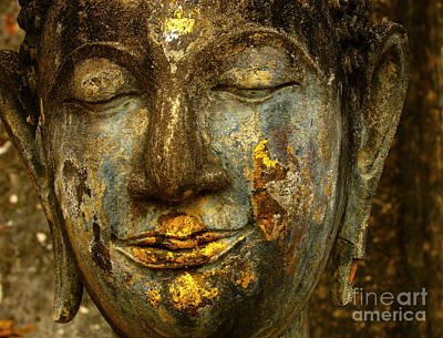 Photograph - Face Of Buddha by Bob Christopher