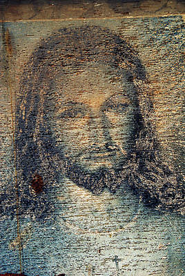 Face Of Jesus Saint Joseph Cemeteries Las Cruces New Mexico 2010 Original by John Hanou