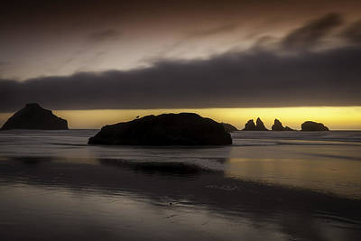 Face Rock Bandon By The Sea Art Print by Jean-Jacques Thebault