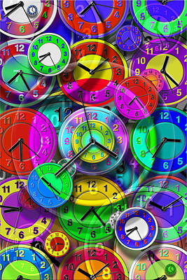 Faces Of Time 1 Art Print by Mike McGlothlen