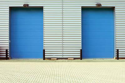 Factory Doors Art Print by Tom Gowanlock