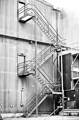 Factory Steps Art Print by Tom Gowanlock
