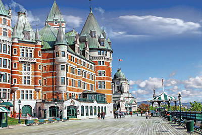 Photograph - Fairmont Le Chateau Frontenac Series 01 by Carlos Diaz