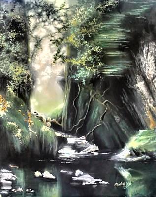 Golden Vines Painting - Fairy Glen by Melissa Herrin