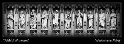 Westminster Abbey Wall Art - Photograph - Faithful Witnesses -- Poster by Stephen Stookey