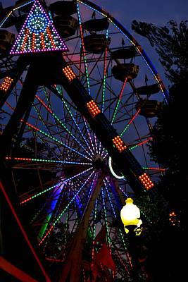 Fall Festival Ferris Wheel Art Print by Deena Stoddard