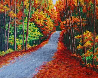 Painting - Fall In New Hampshire by Cheryl Fecht