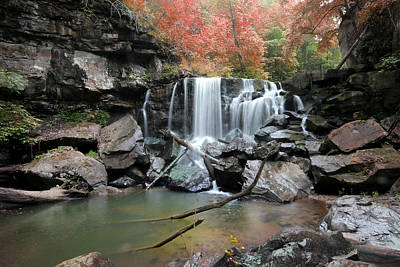 Photograph - Fall Waterfall by Robert Camp