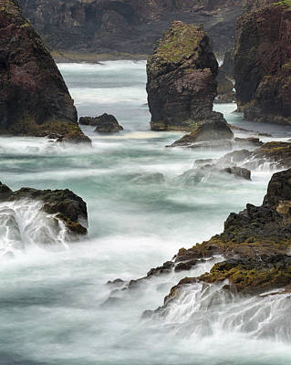 Famous Cliffs And Sea Stacks Of Esha Art Print by Martin Zwick