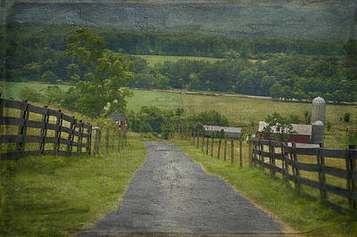 Farm In The Valley Art Print by Kathy Jennings