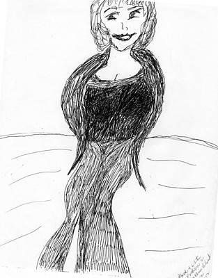 Evening Gown Mixed Media - Fashion Style Two by Elinor Rakowski