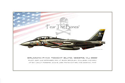 Sparrow Digital Art - Fear The Bones by Peter Van Stigt