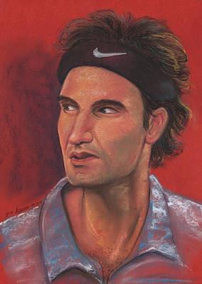 Pastel - Federer by Prakash Leuva