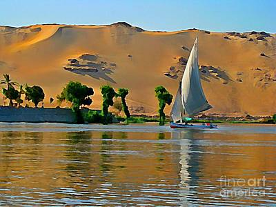 Soap Suds - Felluca on the Nile by John Malone