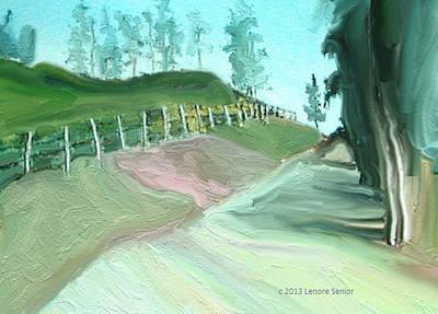 Pathway Digital Art - Fences by Lenore Senior