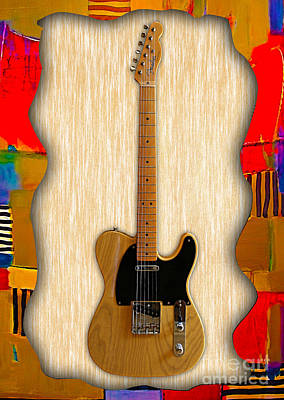 Fender Telecaster Collection Print by Marvin Blaine