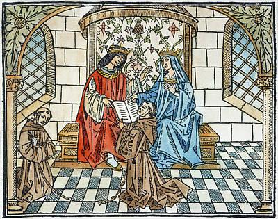 Checkerboard Floor Painting - Ferdinand & Isabella by Granger