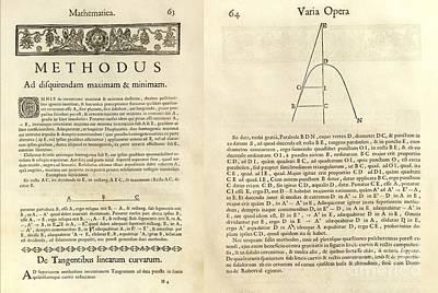 Fermat's Tangent Method Art Print