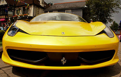 Photograph - Ferrari by Linda Freebury