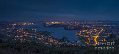 Photograph - Ferrol's Ria Panorama From Mount Ancos Galicia Spain by Pablo Avanzini