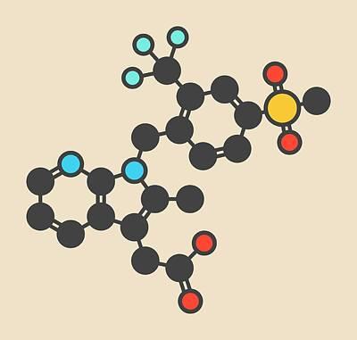 Fevipiprant Asthma Drug Molecule Art Print by Molekuul/science Photo Library