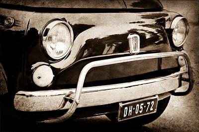 Fiat 500 L Front End Art Print by Jill Reger
