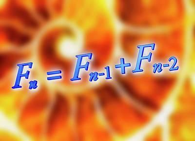Fibonacci Sequence Equation Art Print