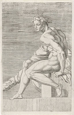Figure From The Sistine Chapel, Rome Italy Art Print